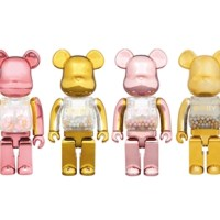 MY FIRST BE@RBRICK B@BY GOLD&SILVER/GOLD&PINK 100% & 400% ベアブリック (BE@RBRICK) [発売]