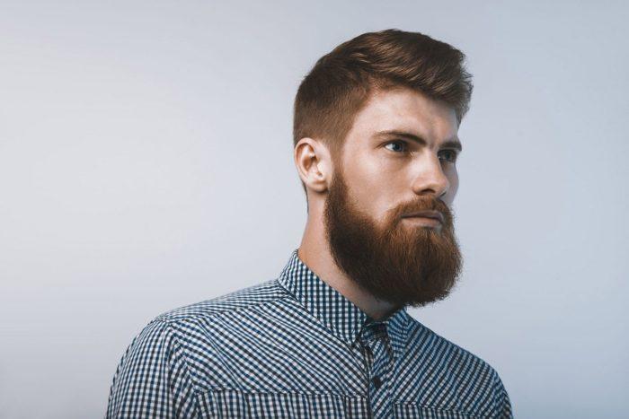 A Barba Garibaldi para o rosto retangular é muito aguardada entre as Tendências para barba 2018