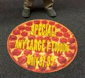 Pizza custom cut dye-sublimated floor mat. Great for in store promotions.