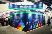 20x20 Ushio Tradeshow Booth Dyesub Graphics Back