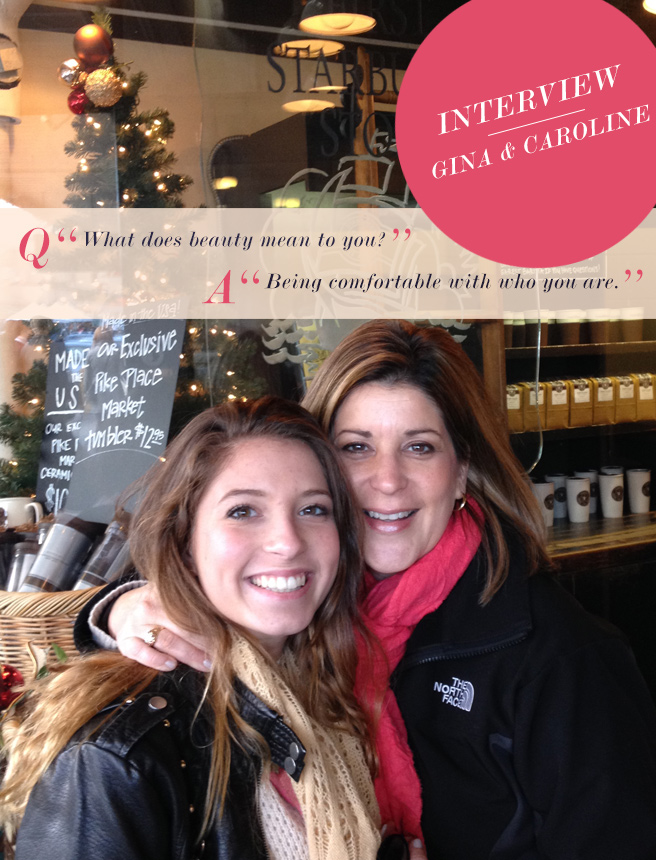 Mother Daughter Love Notes: Gina + Caroline