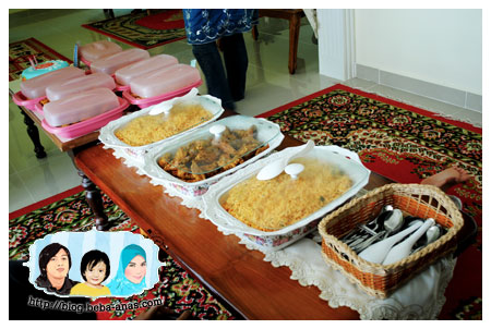 Makanan for Alif's 3rd Birthday Party..