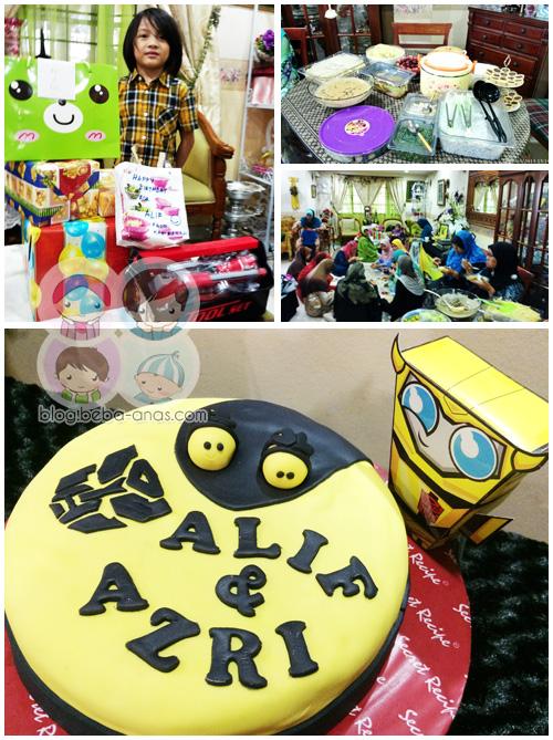 bumblebee theme birthday for alif and azri
