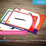 Rainbow Alif Ba Ta Flash Card Template (Freebie)