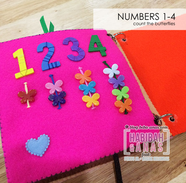 busy book for baby - number page