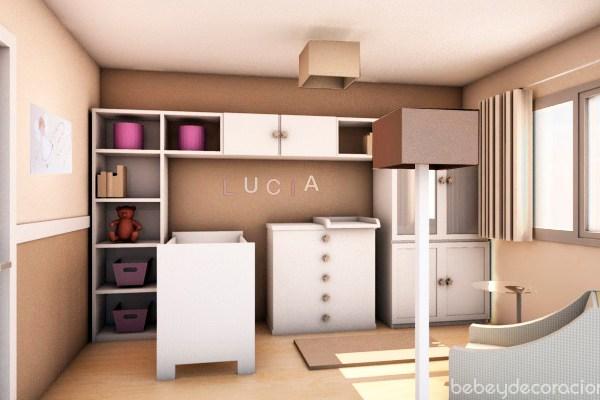 Proyecto de decoracion infantil: La habitación de Lucía