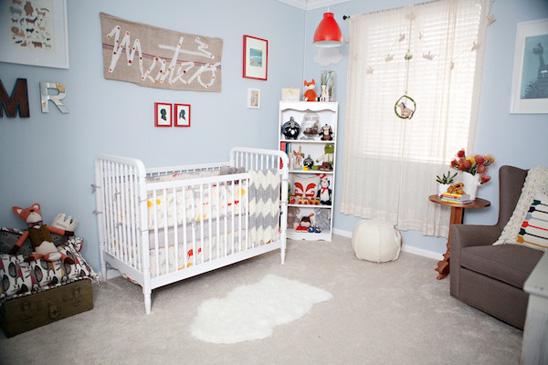 habitacion de bebe en color azul