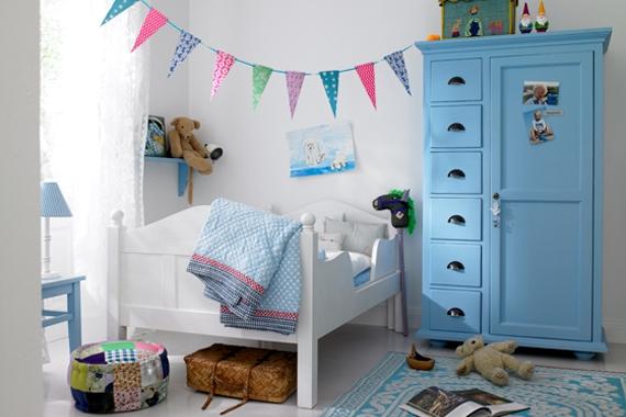 Banderines y guirnaldas en decoración infantil