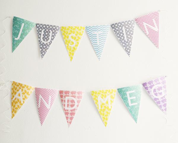 banderines y guirnaldas en decoración infantil 2
