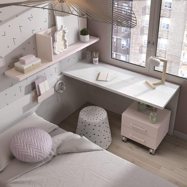 zonas de estudio - escritorio con soporte y book