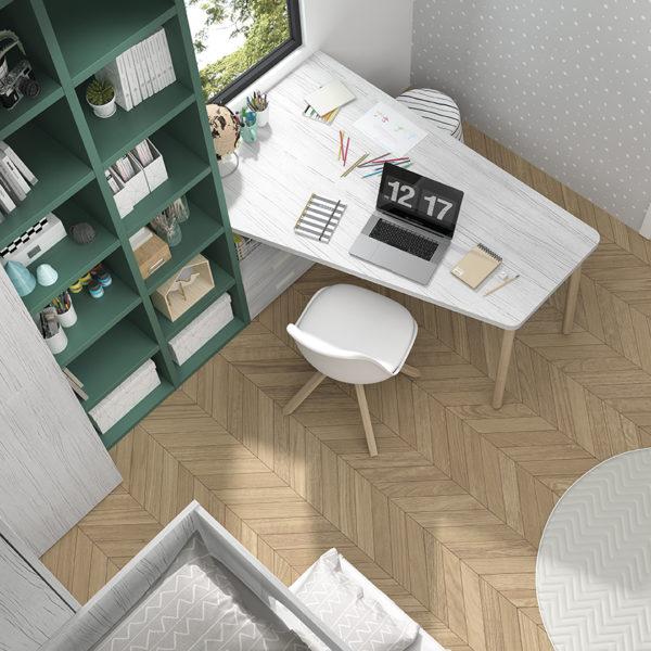 zonas de estudio - escritorio con tablero a medida