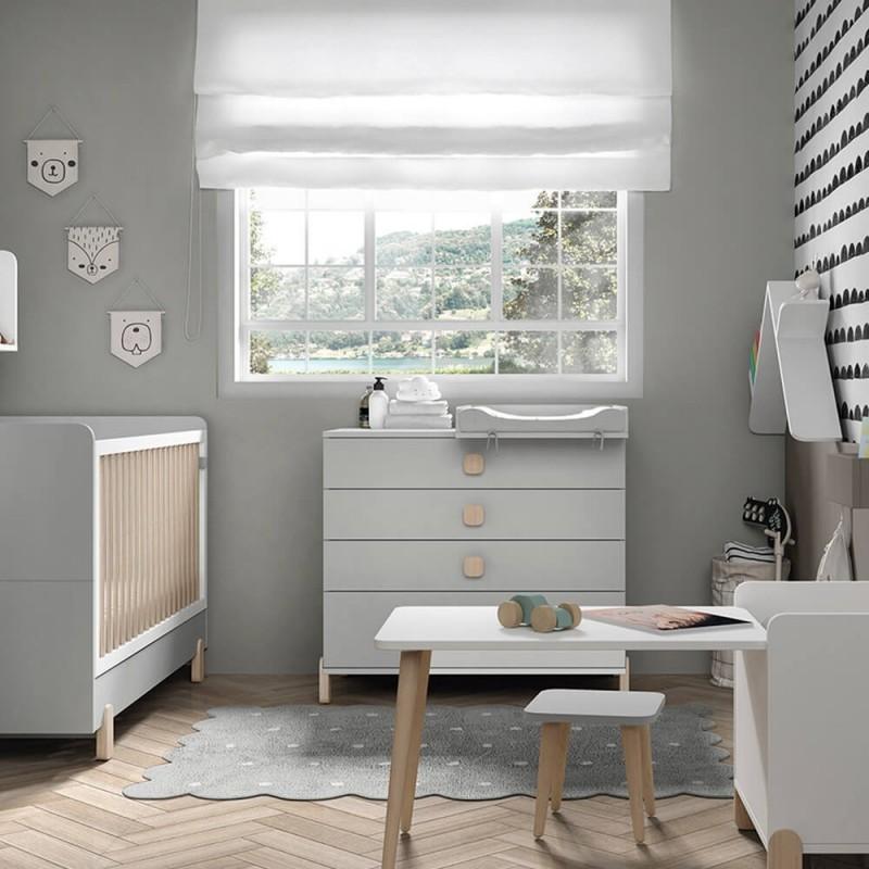 Una de las mejores cómodas infantiles es el modelo Elemental Ros Mini.