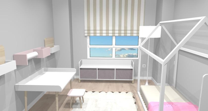 render proyecto habitacion infantil de niña 1