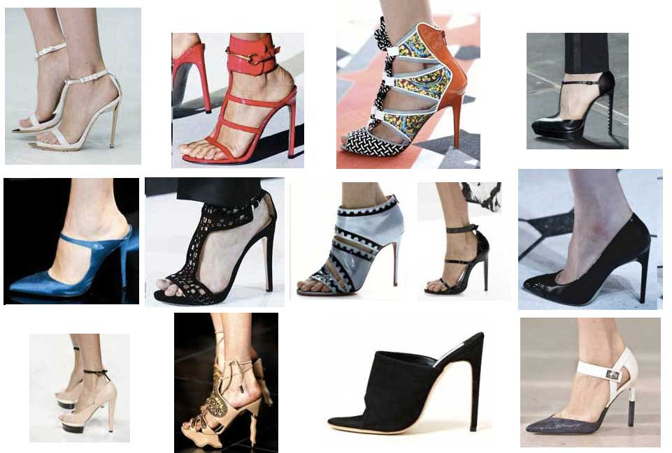 High Heel Shoes Tendencies Spring Summer 2013 Tendencias de zapatos de tacón Primavera Verano 2013