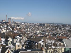 View from top of Prospect Hill, looking toward Charlestown.