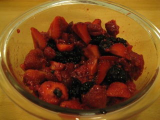 Macerating berries