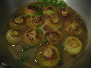 Simmering Onions