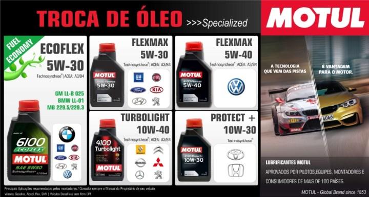 Lista de óleos specialized Motul - Bem Auto