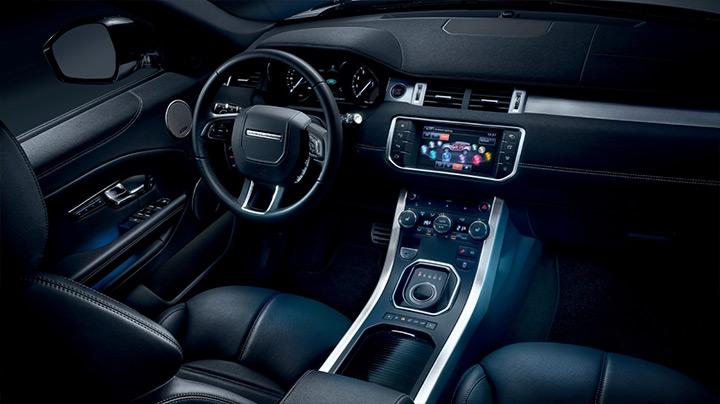 Detalhes do painel da Range Rover Evoque fabricada no Brasil Land Rover - Bem Auto oficina mecânica especializada. Kobrasol , São José, Florianópolis, Palhoça, Biguaçu.
