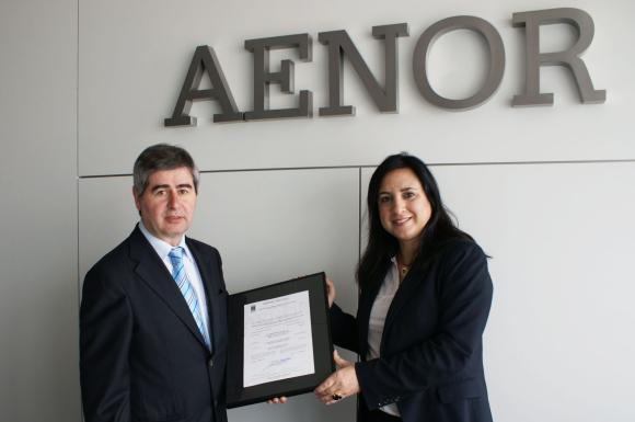 Entrega de la certificación AENOR para los productos de BENITO URBAN