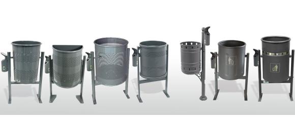 Papeleras adaptables al Cenicero de exterior Clip (VC4) - Mobiliario Urbano BENITO URBAN
