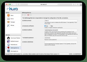Kura SSL options