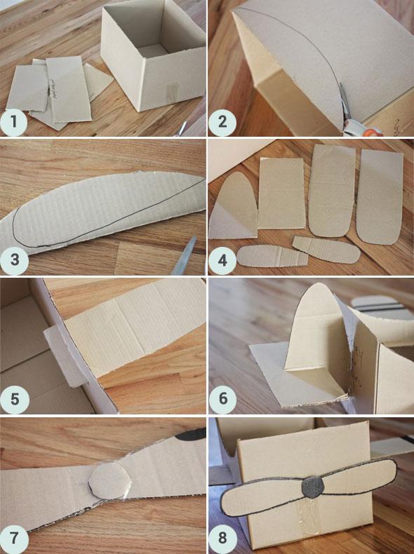 DIY Fabriquez Votre Avion En Carton Berceau Magique