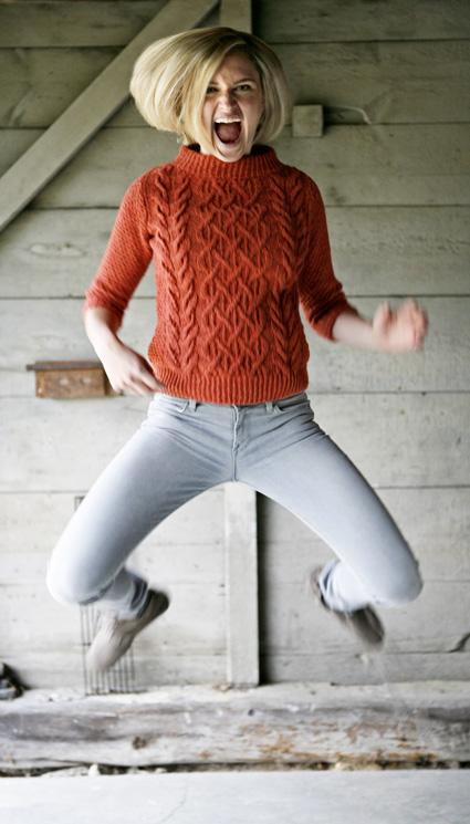 Beatnik free knitting pattern by Norah Gaughan in Berroco Remix