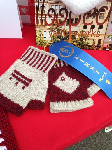 Whitney's gloves one first place at the DC State Fair.