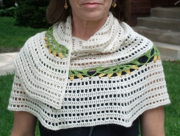 Spring Flowers Shawl by Wendy Easton