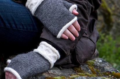 Avoca Fingerless Gloves by Patricia Hart