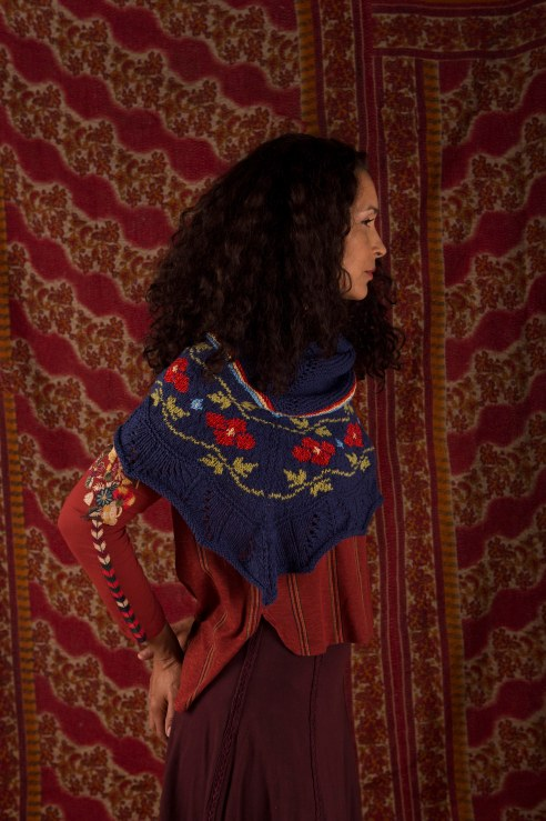 Dahlia knitting pattern in Berroco Fuji