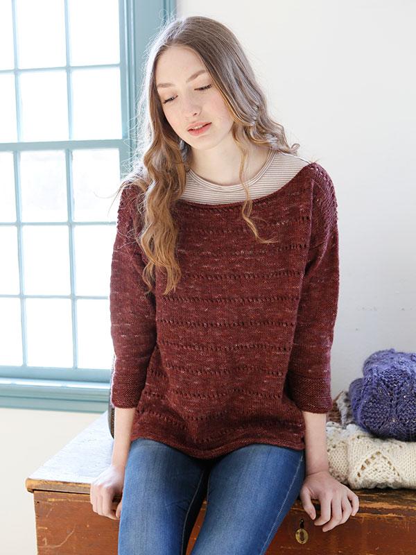 Dianthus Pullover knit in Berroco Boboli Lace