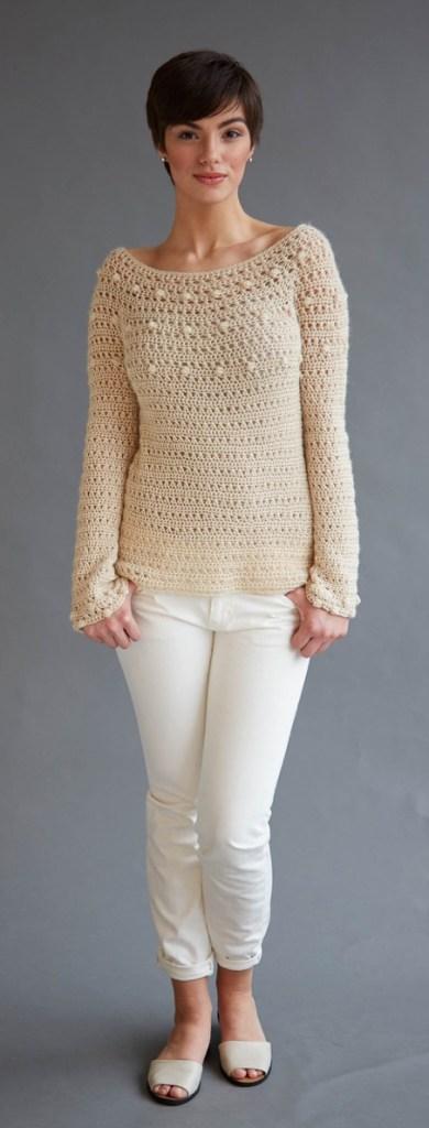 Ava sweater crochet pattern in Berroco Folio