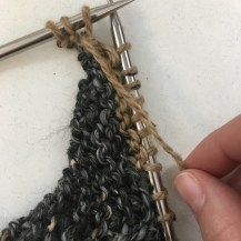 Slip stitch back to left hand needle
