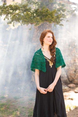 Flying Broomstick crochet lace shawl by Brenda K.B. Andersen