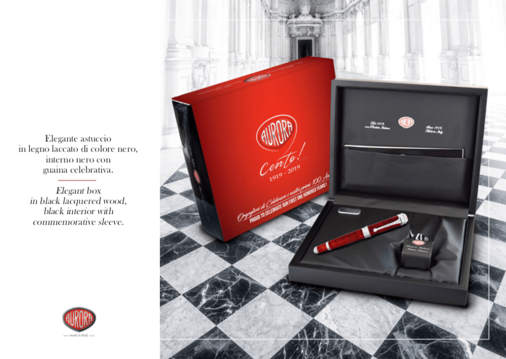 Aurora 100th Anniversary Cento Red Fountain Pen