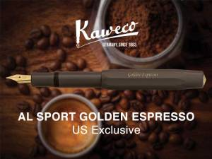 Kaweco Al-Sport Golden Espresso Fountain Pen