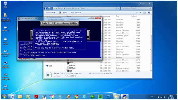step7 How to install Turbo C++ on Windows 7