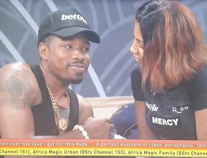 #Bet9jaBBN: Ike Tells Mercy He Wants To Marry Her