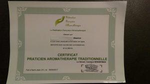 diplôme praticienne aromathérapie traditionnelle