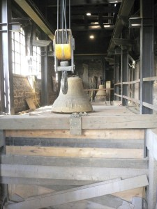 Large bells require heavy lifting gear.