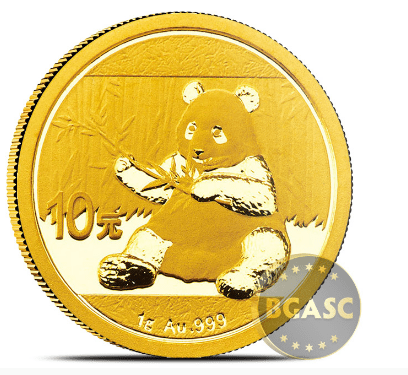 1 gram gold panda 2017 bgasc