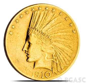 $10 Indian Gold Eagle Front