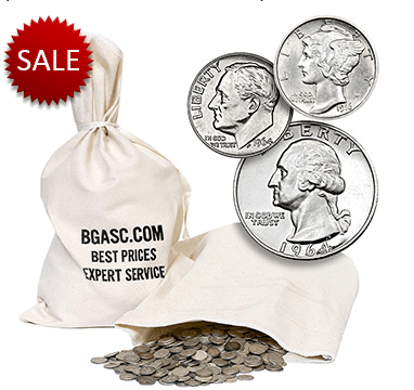 $100 mixed silver dime and quarter bag