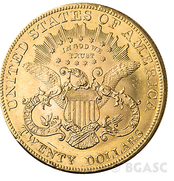 $20 Liberty Gold Eagle back