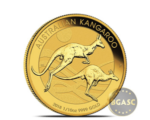 2018 1/10 oz perth ming gold kangaroo