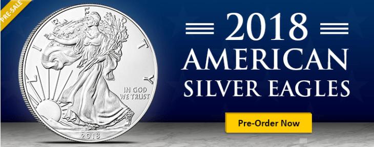 2018 American Silver Eagle pre sale banner