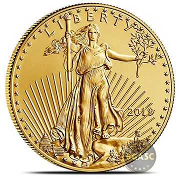 2019 american gold eagle front