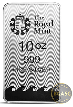 Britannia 10 ounce silver bar back